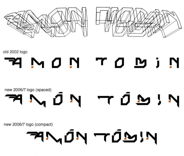 Amon Tobin logo progression 1996-2007