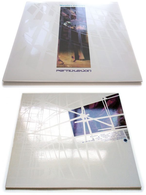 Amon Tobin - Permutations LP front + back showing spot varnish