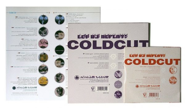 "Coldcut - Let Us Replay LP inner sleeve + 10"" + 7"" back"