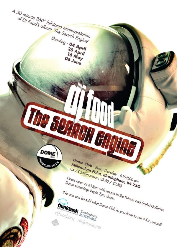 DJ Food - The Search Engine, Dome Club flyer, Birmingham