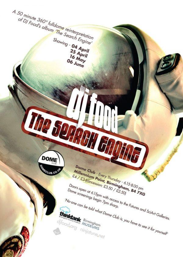 DJ Food - The Search Engine, Dome Club flyer, Birmingham