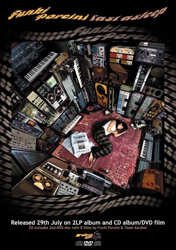 Funki Porcini - Fast Asleep LP launch invite front