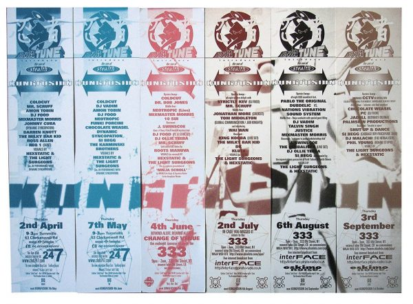 Kungfusion club flyers, the 333