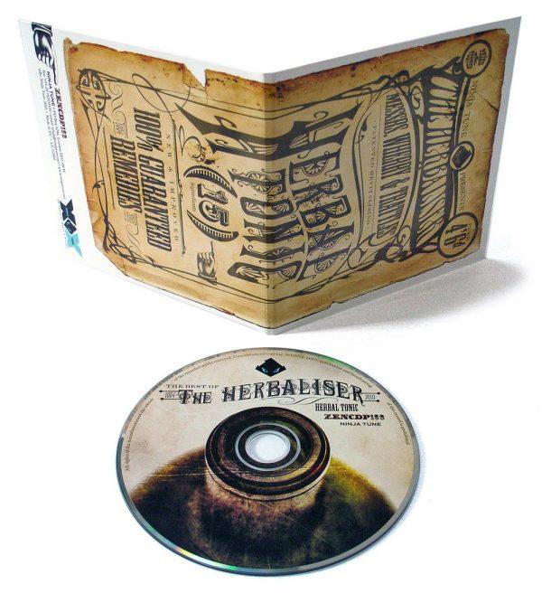 The Herbaliser - Herbal Tonic promo CD front + back + disc