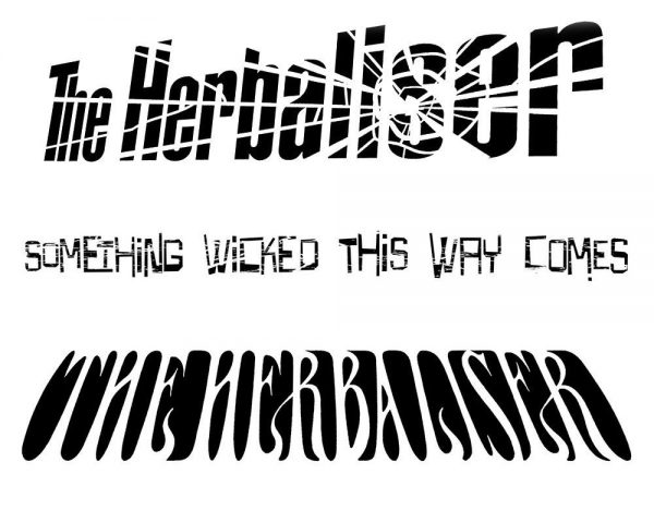 The Herbaliser - shatter logo and Something Wicked title & logo