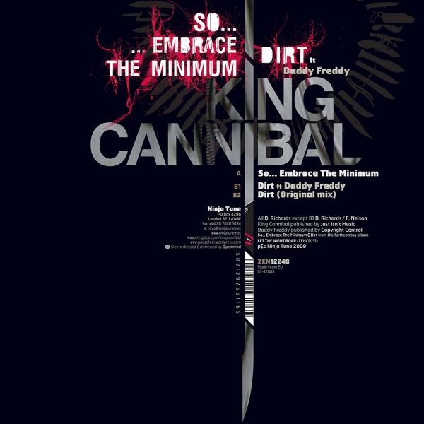 "King Cannibal - So... Embrace the Minimum 12"" back"