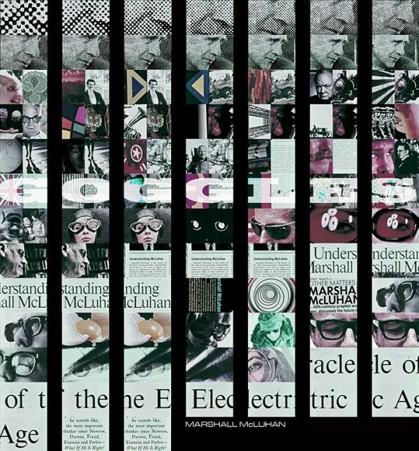 'Goggles' Marshal McLuhan-inspired collage