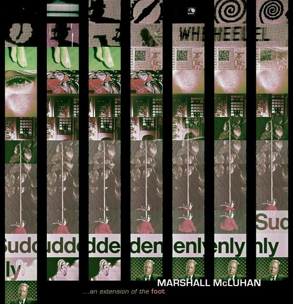 'The Wheel' Marshal McLuhan-inspired collage