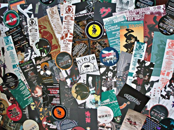Misc. Ninja Tune + Solid Steel club flyers 1994-2004
