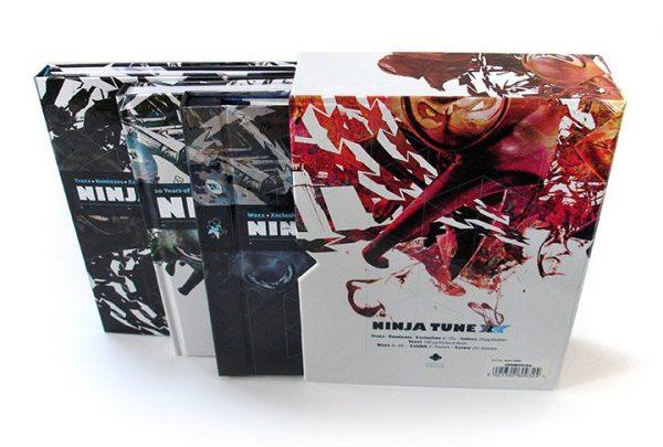 Ninja Tune XX box set slipcase + contents