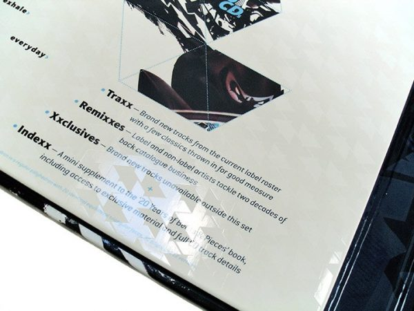 Ninja Tune XX box set varnish detail
