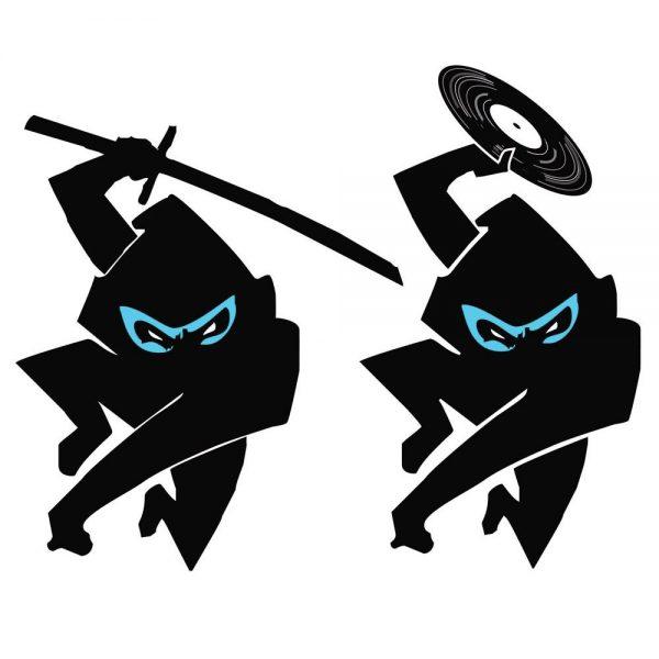 Ninja Tune logo redesign, 1994 (after Michael Bartalos)