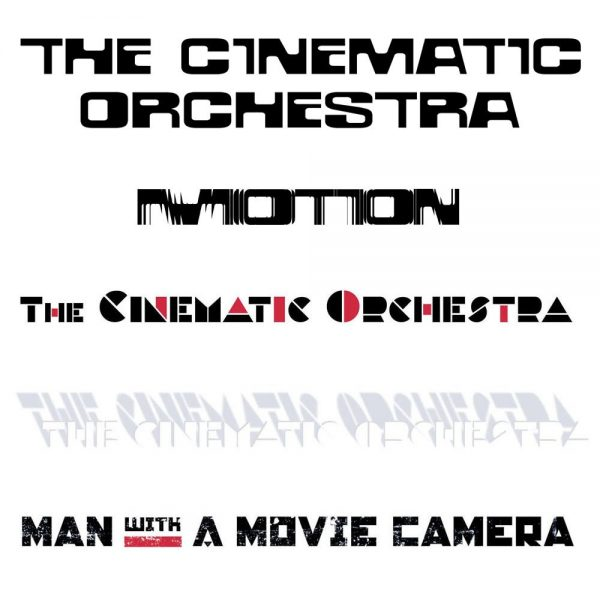 The Cinematic Orchestra + Motion + Man With A Movie Camera logotypes