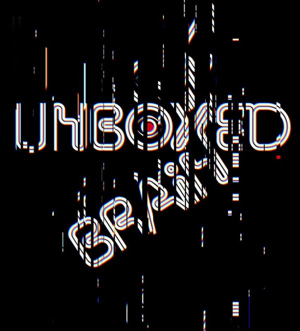 "Various - Unboxed Brain 12"" title glitched design"