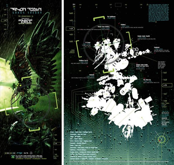 Amon Tobin - Chaos Theory 5.1 DVD LP poster inside + advert